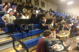 Pep Band Makes Our Home Games Grand!